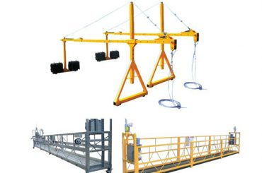 2 * 2.5m aluminyo electrical lubid suspendido platform na may motor kapangyarihan 1.5kw